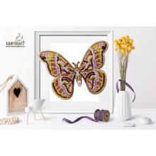 Б-025 3D Бабочка Samia Cynthia. Blagovest. Наборы для вышивания бисером.