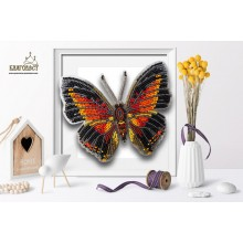 Б-026 3D Бабочка Charaxes Lingha. Blagovest. Наборы для вышивания бисером.