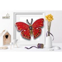 Б-027 3D Бабочка Cymothoe Excelsa. Blagovest. Наборы для вышивания бисером.
