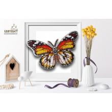 Б-029 3D Бабочка Danaus Chrysippus Alcippus. Blagovest. Наборы для вышивания бисером.