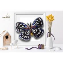 Б-030 3D Бабочка Euxanthe Eurinome. Blagovest. Наборы для вышивания бисером.