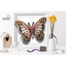 Б-031 3D Бабочка Graphium Angolanus. Blagovest. Наборы для вышивания бисером.