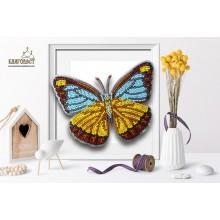 Б-036 3D Бабочка Appias Lyncida Vasava. Blagovest. Наборы для вышивания бисером.