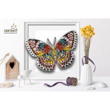 Б-038 3D Бабочка Cethosia Cyane. Blagovest. Наборы для вышивания бисером.