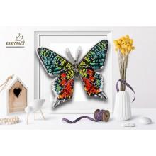 Б-100 3D Бабочка Chrysiridia Madagascarensis. Blagovest. Наборы для вышивания бисером.
