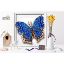 Б-103 3D Бабочка Salamis Temora. Blagovest. Наборы для вышивания бисером.
