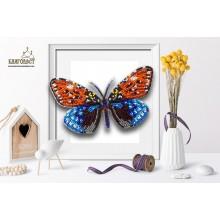 Б-106 3D Бабочка Erasmia. Blagovest. Наборы для вышивания бисером.