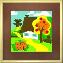 В-171 Осень в деревне. Чарівна Мить. Наборы для моделирования из фетра.