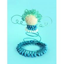 ДП-002 Ангел в синем. Чарівна Мить. Наборы для моделирования из проволоки.