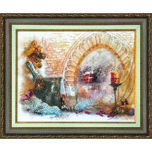 КСТ-001 Новогодний натюрморт. Чарівна Мить. Наборы для вышивания крестиком и украшения стразами.