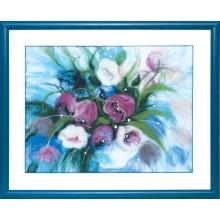В-199 Утренние тюльпаны. Чарівна Мить. Наборы для валяния картин.