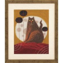 """В-213 Триптих """"Жил-был кот"""". Чарівна Мить. Наборы для валяния картин."""