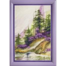 В-216 Утро в лесу. Чарівна Мить. Наборы для валяния картин.
