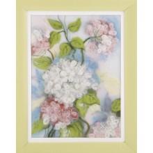 В-210 Изящное цветение. Чарівна Мить. Наборы для валяния картин.