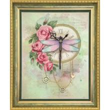 РК-103 Часы и розы. Чарівна Мить. Наборы для вышивания крестиком.