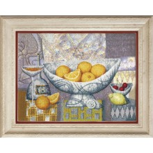 РК-133 Апельсины, созревшие в теплых лучах солнца. Чарівна Мить. Наборы для вышивания крестиком.