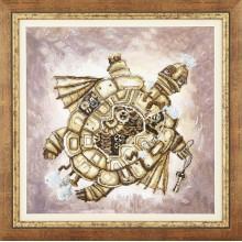 РК-135 Золотая черепаха. Чарівна Мить. Наборы для вышивания крестиком.