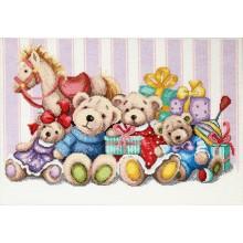 М-387 Мягкие игрушки. Чарівна Мить. Наборы для вышивания крестиком.