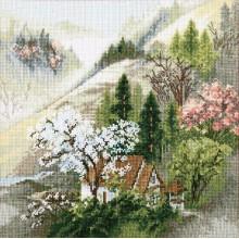 М-365 Уютный домик у горного ручья. Чарівна Мить. Наборы для вышивания крестиком.