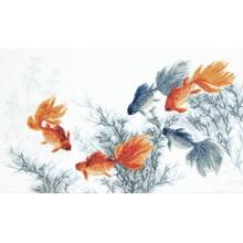 М-354 Золотые рыбки. Исполнение пяти желаний. Чарівна Мить. Наборы для вышивания крестиком.