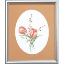 ГЛ-014 Тюльпаны. Чарівна Мить. Наборы для вышивания гладью.