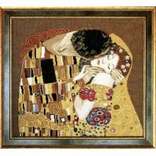 """411 По мотивам Г. Климта """"Поцелуй"""" (фрагмент). Чарівна Мить. Наборы для вышивания крестиком."""