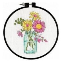 72-74550 Летние цветы. Dimensions. Наборы для вышивания крестиком.