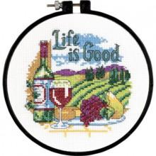 72-73545 Жизнь хороша. Dimensions. Наборы для вышивания крестиком.