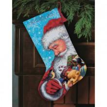 71-09145 Санта и игрушки. Чулок. Dimensions. Наборы для гобеленовой вышивки.