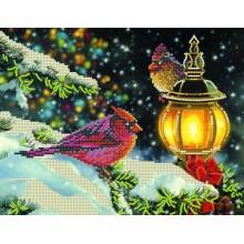 S-004 Рождественский вечер. Картины бисером. Схемы для вышивания бисером.