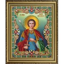 """P-400 Икона """"Святой великомученик Георгий Победоносец"""". Картины бисером. Наборы для вышивания бисером."""