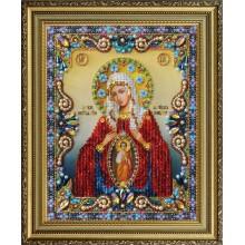 """P-401 Икона Божией Матери """"Помощница в родах"""". Картины бисером. Наборы для вышивания бисером."""