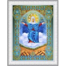 """P-405 Икона Божией Матери """"Спорительница хлебов"""". Картины бисером. Наборы для вышивания бисером."""