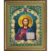 P-408 Икона Христа Спасителя. Картины бисером. Наборы для вышивания бисером.