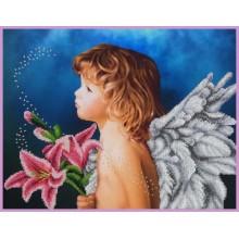 P-407 Ангелочек. Картины бисером. Наборы для вышивания бисером.