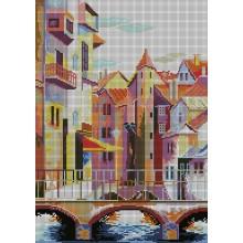 SPP-006 Старый город. Картины бисером. Схемы для вышивания бисером.
