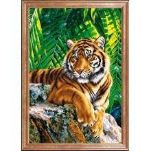 КС-087 Тигр отец. Магия канвы. Схемы для вышивания бисером.