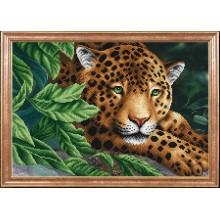 КС-088 Леопард на отдыхе. Магия канвы. Схемы для вышивания бисером.