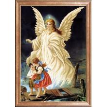 КС-093 Ангел с детьми. Магия канвы. Схемы для вышивания бисером.