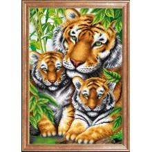 КС-097 Тигрица с тигрятами. Магия канвы. Схемы для вышивания бисером.