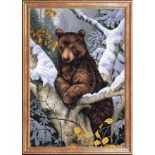 КС-101 Медведь на дереве. Магия канвы. Схемы для вышивания бисером.
