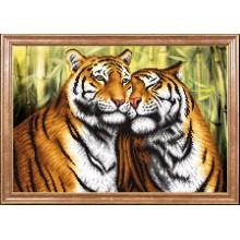 КС-110 Пара тигров. Магия канвы. Схемы для вышивания бисером.