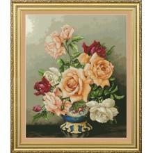 VN-116 Букет роз. Olanta. Наборы для вышивания крестиком.