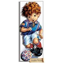РТ150123 Юный футболист. TelaArtis. Наборы для создания объемной картины из бумаги.