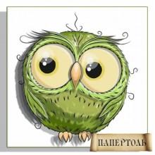 РТ150155 Совушка зеленая. TelaArtis. Наборы для создания объемной картины из бумаги.