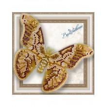 BGP-035 3D Бабочка Айлантовый шелкопряд. Vdohnovenie. Наборы для вышивания бисером.