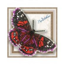 BGP-036 3D Бабочка Адмирал красный. Vdohnovenie. Наборы для вышивания бисером.