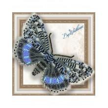 BGP-040 3D Бабочка Ленточница голубая. Vdohnovenie. Наборы для вышивания бисером.