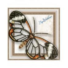 BGP-049 3D Бабочка Грета Ото (стеклянная). Vdohnovenie. Наборы для вышивания бисером.