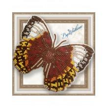 BGP-052 3D Бабочка Стихофтальма Луиза. Vdohnovenie. Наборы для вышивания бисером.